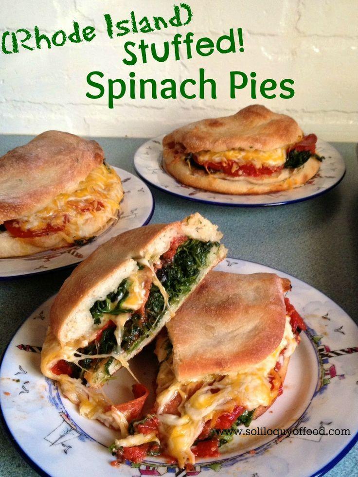 Rhode Island Stuffed Spinach Pies wwwsoliloquyoffoodcom