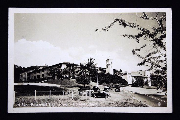 c.1951 RPPC Postcard View of the Roosevelt High School, Honolulu, Hawaii • PicClick