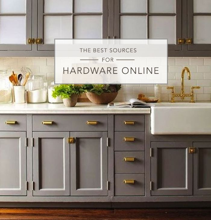 Love The Gray Cabinets Chunky Gold Hardware White Sink This Is My Future Kitchen Bath
