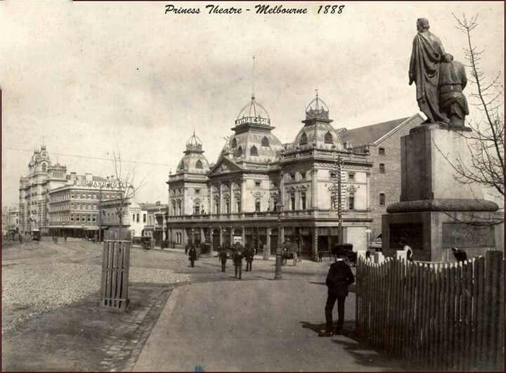 Princess Theatre in Melbourne in 1888.