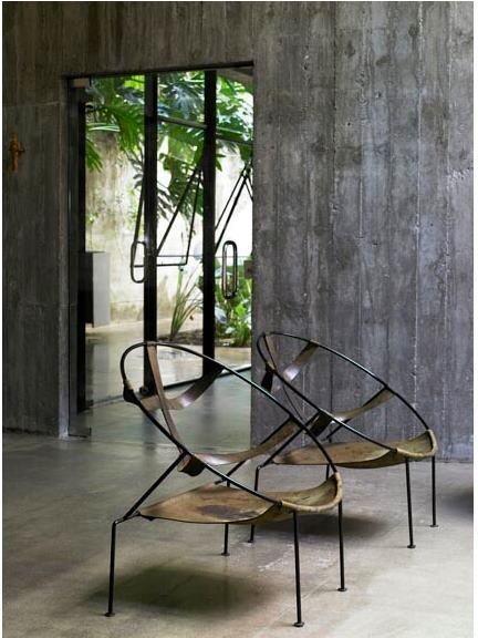 Flavio de Carvalho chairs in a Paula Mendes da Rocha home