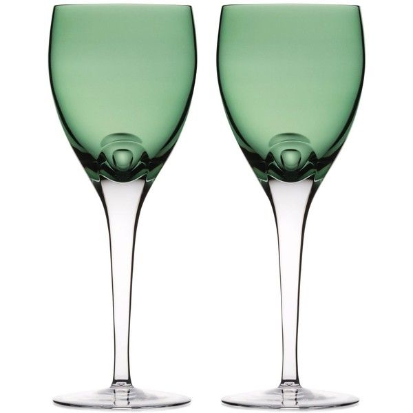 Waterford W Collection Wine Glasses, Set Of 2 ($195) ❤ liked on Polyvore featuring home, kitchen & dining, drinkware, fern, waterford wine glass, crystal wine glasses, waterford, crystal wine glass and crystal drinkware