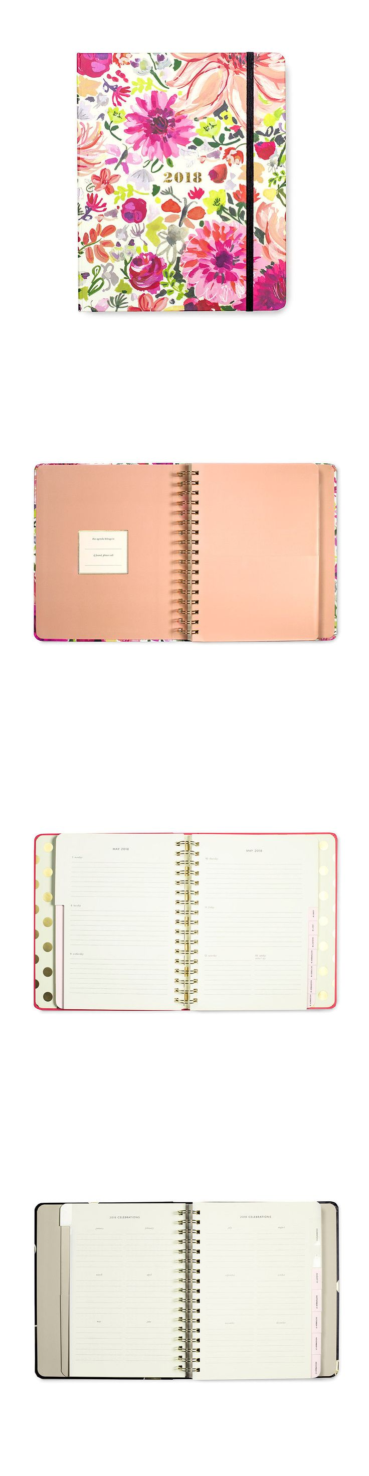 Organizers and Day Planners 15735: Kate Spade - 2017- 2018 Agenda - Planner - Dahlia - Large -> BUY IT NOW ONLY: $36 on eBay!