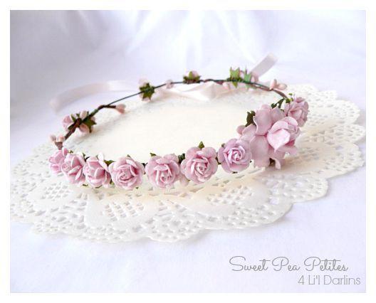 Pink Blossom Petite Crown-flower crown, newborn, floral halo,