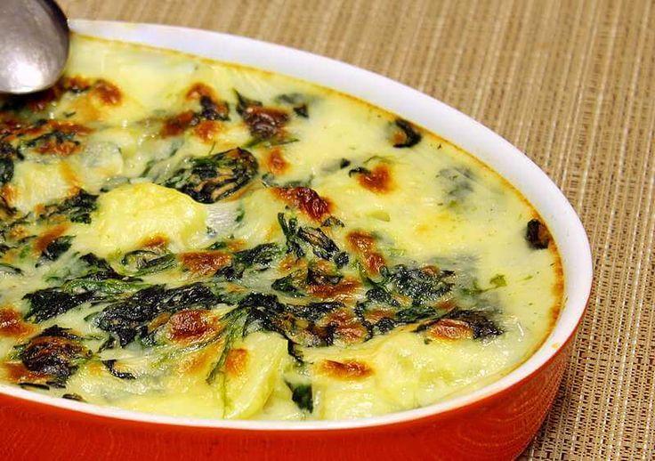 Tavë me Spinaç dhe Patate