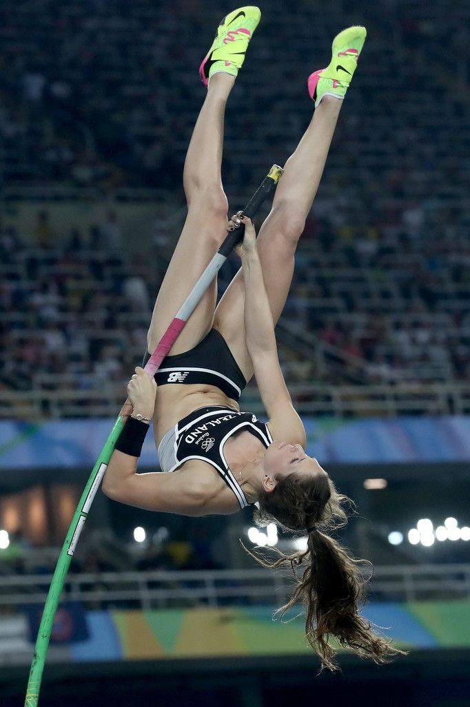 Eliza Mccartney of New Zealand competes in the Women's Pole Vault Final on Day 14 of the Rio 2016 Olympic Games at the Olympic Stadium on August 19, 2016 in Rio de Janeiro, Brazil.