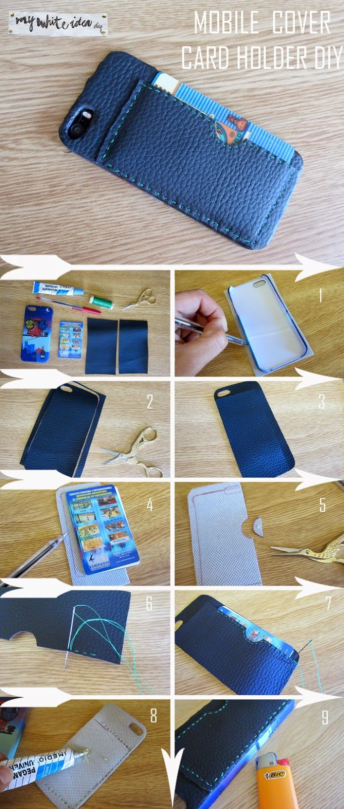 Ray Hill Rayhillv7y Card Holder Diy Leather Wallet Pattern Diy Mobile Cover