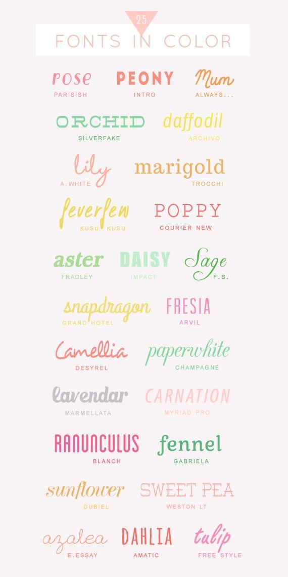 Lots of pretty fonts to add for the blog