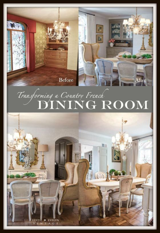 Transformation the dining room edith evelyn vintage for Country farmhouse blog