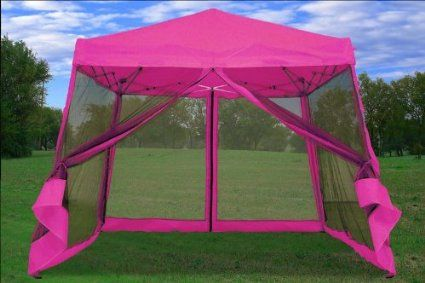 Pink Cute 8x8 10x10 Pop Up Canopy Party Tent Gazebo Ez