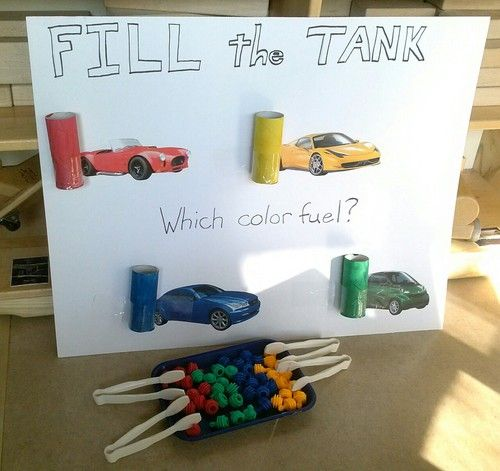 Math, fine motor, and color recognition activity!