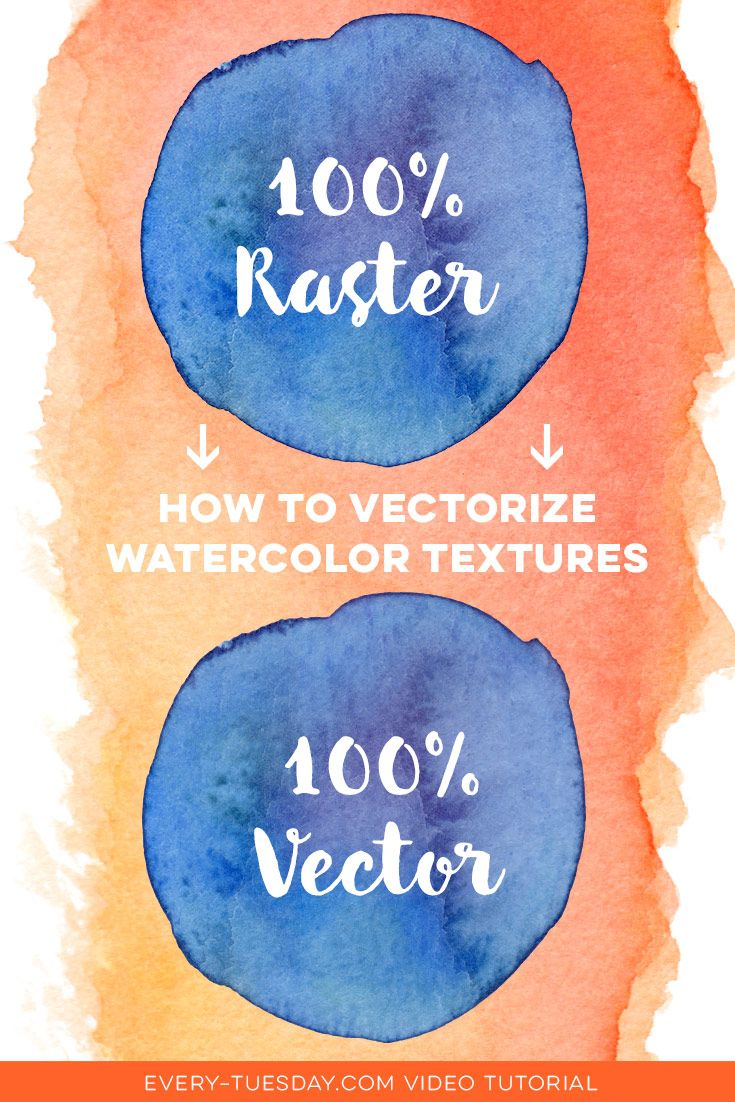 How to Vectorize Watercolor Textures