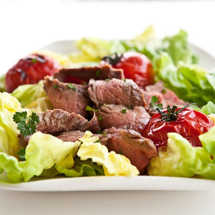 Grilled Steak and Tomato Salad with Rum Vinaigrette II Recipe