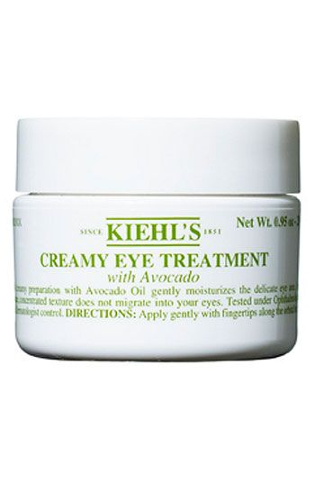 Kiehl's Since 1851 Jumbo Creamy Eye Treatment with Avocado (0.95 oz.) ($57 Value) available at   #Nordstrom    A Kiehl's Since 1851 classic for a burst of hydration to the eye area, now in a new large size!    The creamy yet uniquely concentrated avocado-oil formula gently moisturizes the delicate eye area without getting in the eyes.  Ophthalmologist and dermatologist tested.  By Kiehl's Since 1851.