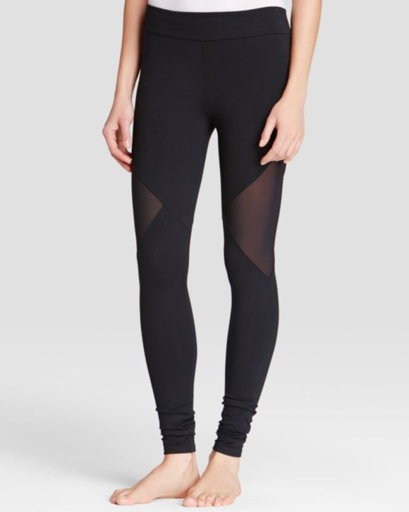 So Low Leggings - Side Mesh Cutout | Bloomingdales's