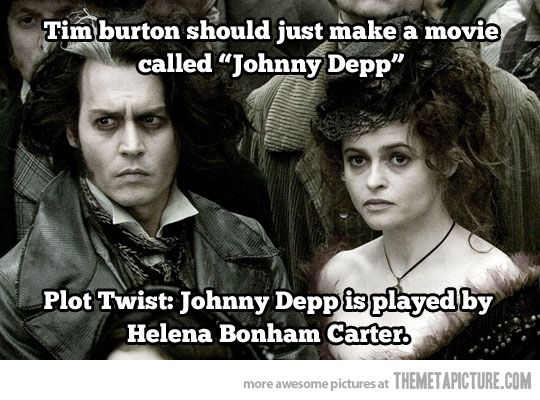 Tim Burton's new movieJohnny Depp, Sweeney Todd, Alan Rickman, Plot Twist, Tim Burton, Johnnydepp, Sweeneytodd, Helena Bonham Carter, Timburton