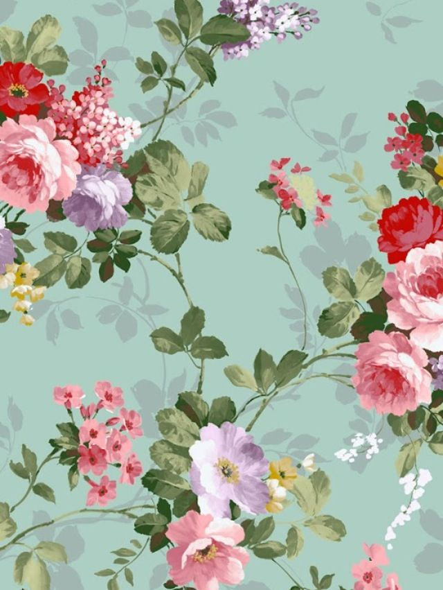 roses and flowers wallpaper i would have this on a feature wall maybe above an old iron fireplace with a giant mirror - Flower Wallpaper For Walls