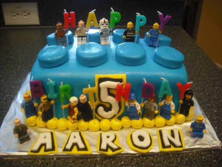 Lego Block Birthday Cake For Aaron S 5th Cakes Made By