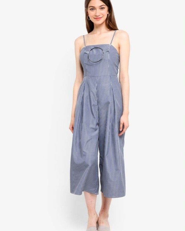 1304d104f42 Something Borrowed - Ring Detail Culotte Jumpsuit Home Something Borrowed -  Ring Detail Culotte Jumpsuit -