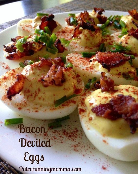 Bacon deviled eggs - #paleo and low FODMAP