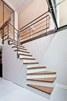 Houten trap met stalen hekwerk, Rubensstraat | Kodde Architecten