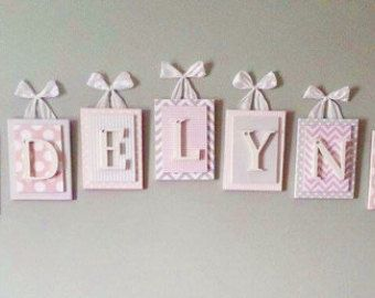 Kindergarten-Briefe lila Kinderzimmer von LoveyLettersbyLeah