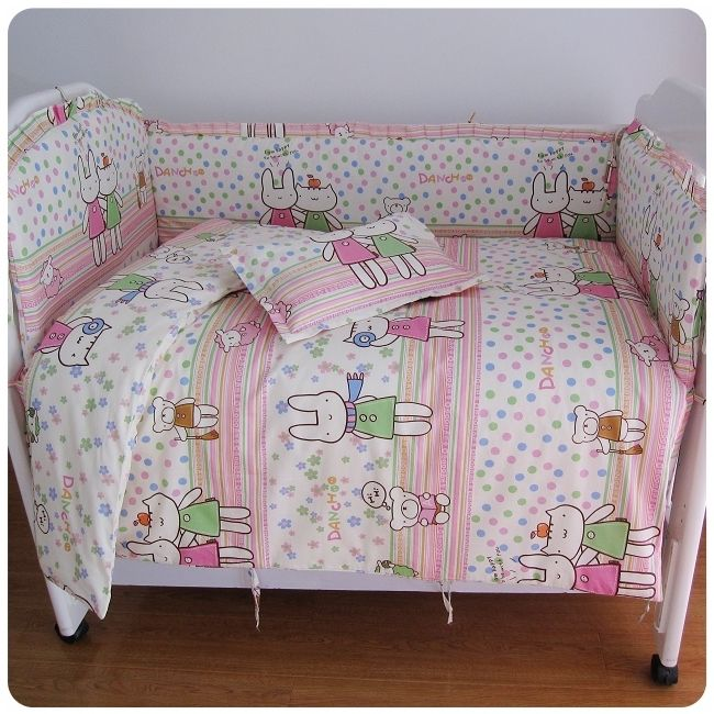 42.80$  Buy here - http://aliemi.shopchina.info/go.php?t=32395613714 - Promotion! 6/7PCS baby crib bedding set baby cot beds,duvet cover,baby bed linen 100% cotton ,120*60/120*70cm 42.80$ #magazineonline