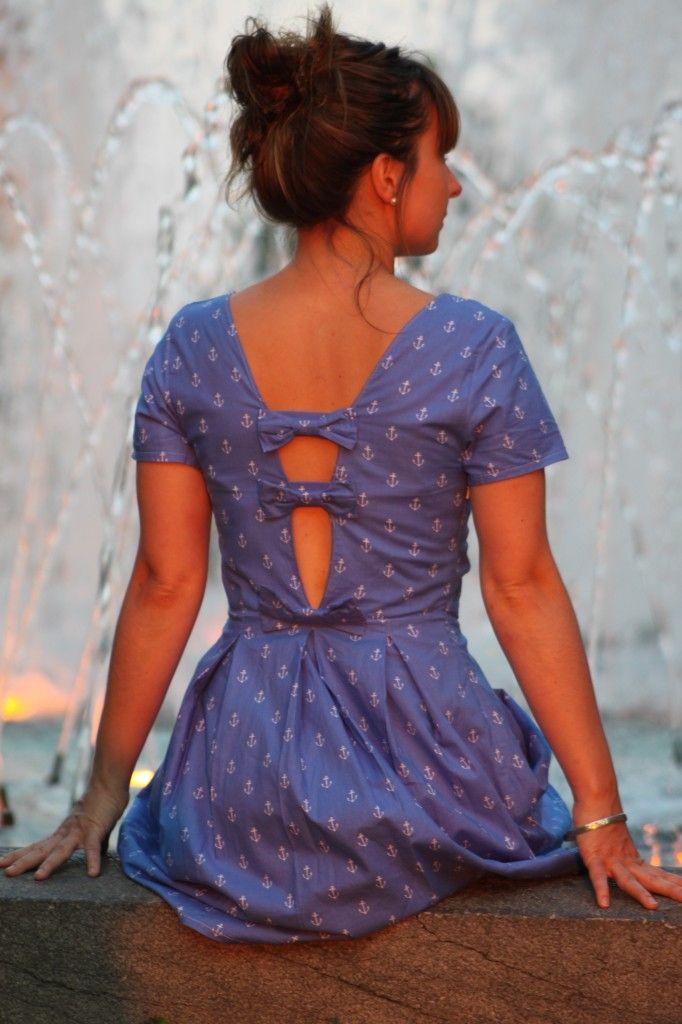 Robe OPALE (mix avec un patron NewLook) avec le dos retravaillé, Grains de Couture - Hommes & Femmes, Ivanne SOUFFLET, by Le Fil à coudre d'Anna