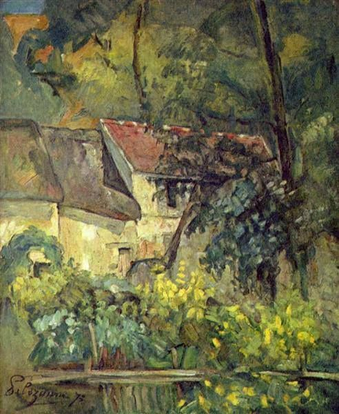 Paul Cézanne (1839–1906) The house of pere lacroix in auvers - 1873.                                                                                                                                                                                 More