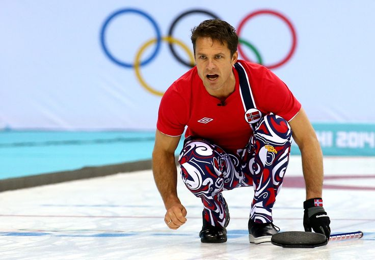 Thomas Ulsrud of Norway competes against Denmark during the Men's Curling Round Robin (c) Getty Images