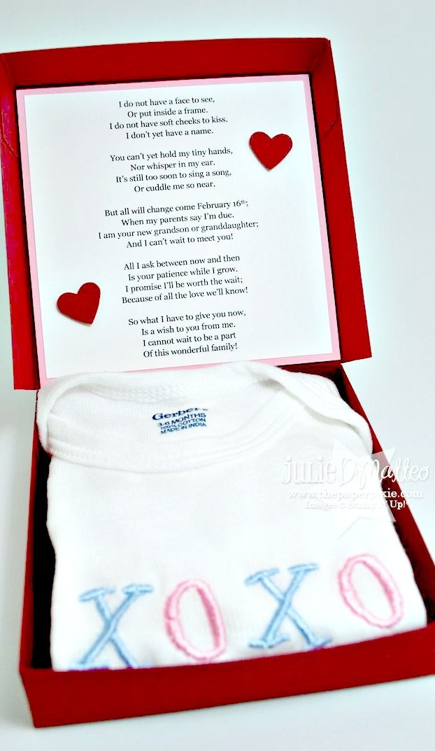 Pregnancy Announcement Poem for the Grandparents ~ an adorable idea... the poem is Perfect, a must read!
