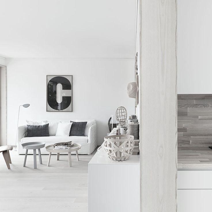 Muuto - Around tables, Soft Grid cushions and Leaf floor lamp