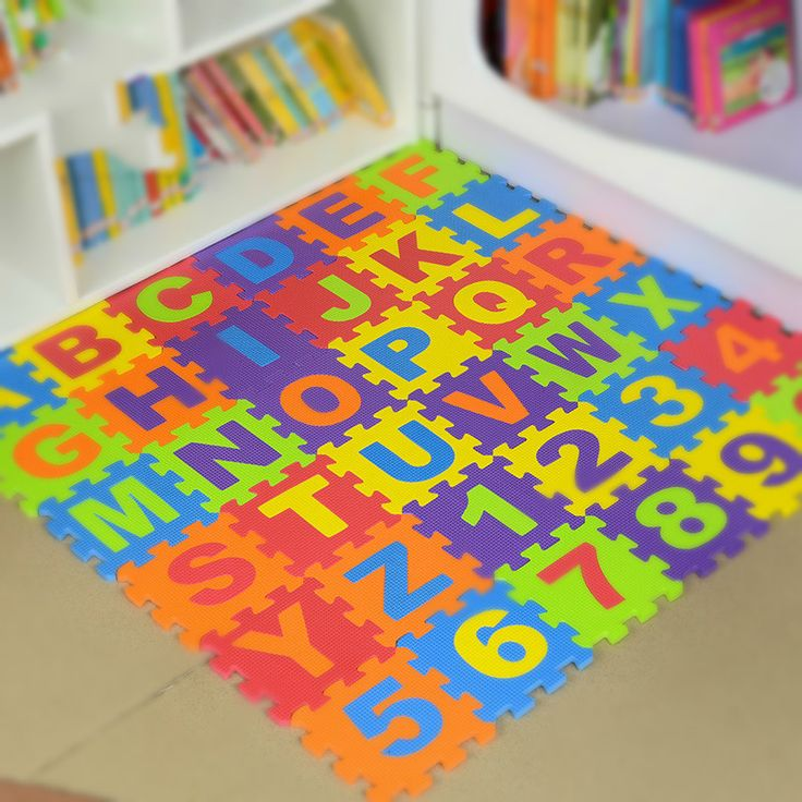 36Pcs/lot Baby Play Crawling Mat 26 Letters 10 Numbers Floor Puzzle Children Educational Foam Puzzle Jigsaw Mat Eva Square Toys