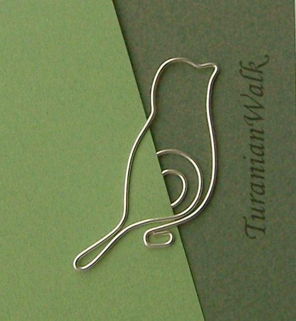 Bird - wire bookmark. $6.50, via Etsy.