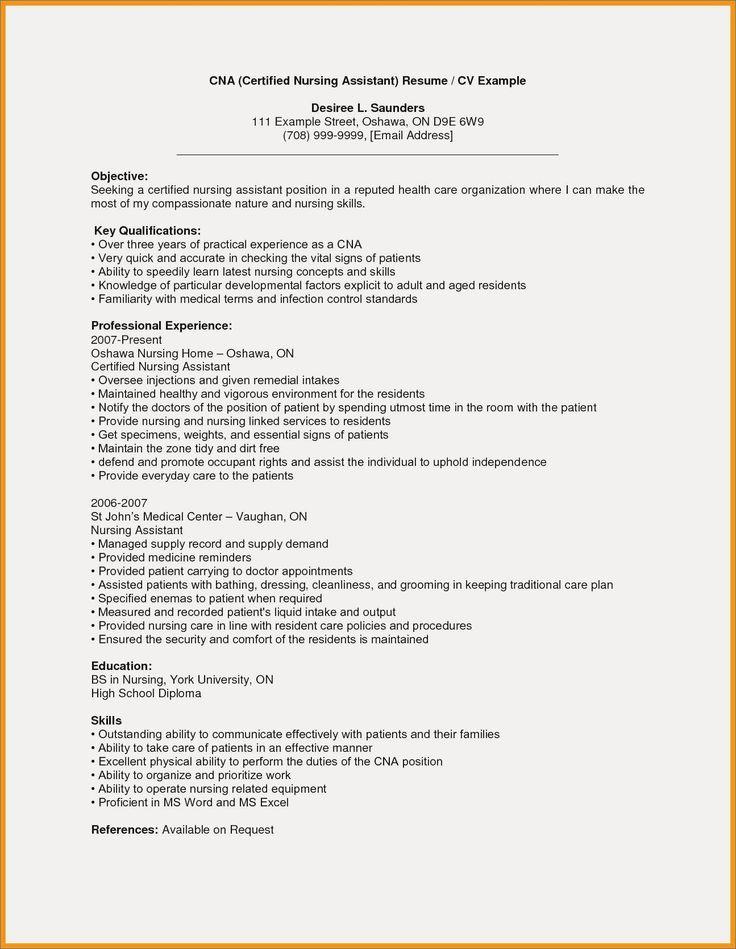 Resident assistant Resume Examples Awesome 10 Nurse Aide