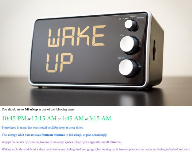 Wake up well-rested with REM sleep calculators. | 10 Tiny Tips That Will Make A Big Difference In Your Day