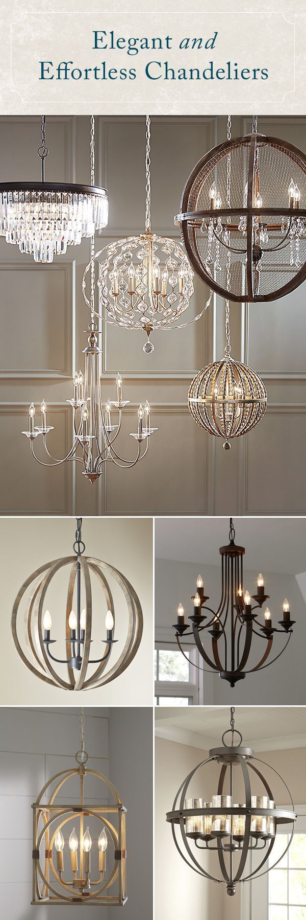 Shimmering, elegant, and bright, the right chandelier adds some much-needed drama to your space. Whether your style skews traditional or has a more rough-around-the-edges farmhouse feel!