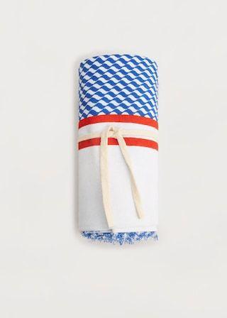 Prosop sarong bicolor - Costume de baie  Mărimi mari | Violeta by MANGO România