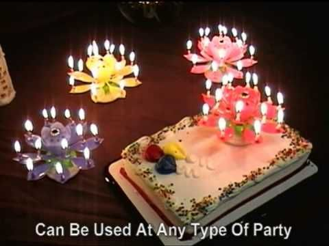 Flower Musical Birthday Candles /Rotating-lotus flower music birthday candle