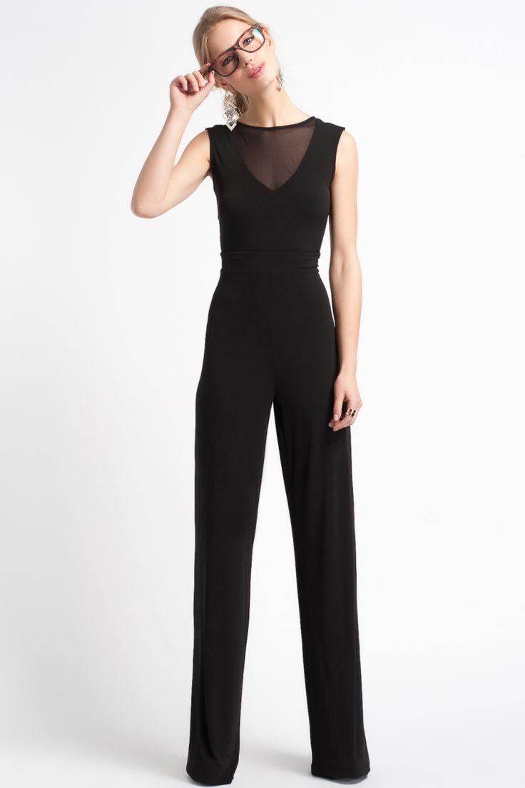 Modagram Eloise Yakasi Tül Tulum Siyah, Elbise Modelleri
