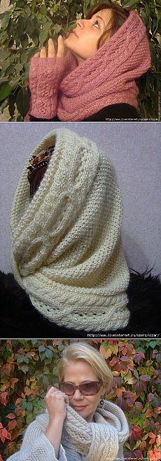 """Снуд-шарф """"Прикосновение любимого"""""""
