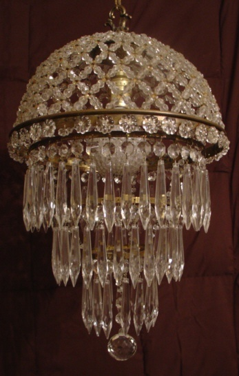1087 best lighting from above mostly chandeliers images on antique french beaded dome wedding cake chandelier amazing parispanacheantiques aloadofball Image collections