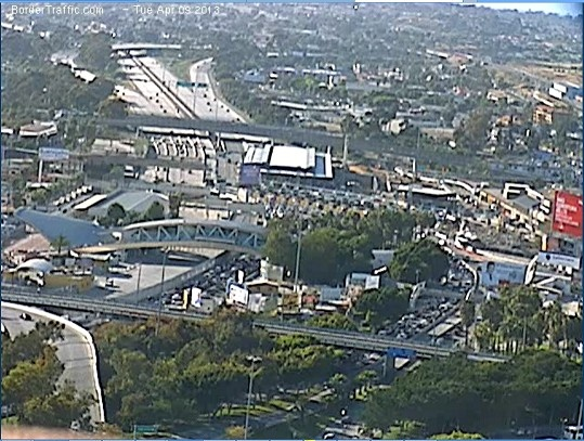 A beautiful shot of the Tijuana - San Ysidro Border Crossing.