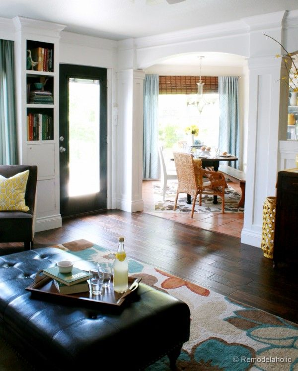 78 best columns and trim work images on pinterest home - Pictures of columns in living room ...