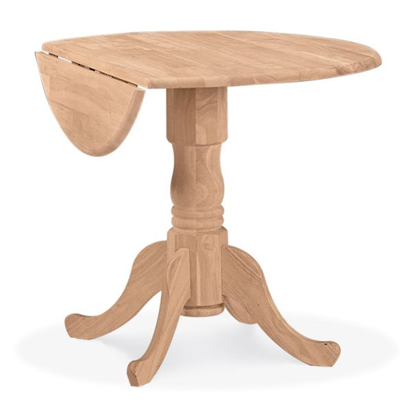 Unfinished Round 36 Inch Dual Drop Leaf Dining Table Ping Great Deals On Tables Small Kitchen Ideas In 2018 Pinterest