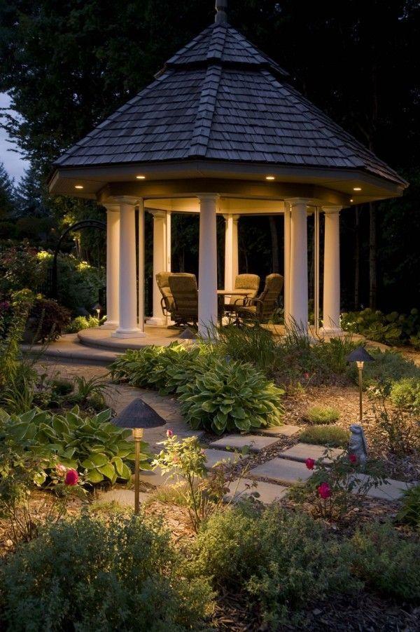 Explore Garden Lighting Ideas On Pinterest See More Ideas About Garden Lighting Garden Lighting Id Gazebo Lighting Diy Outdoor Lighting Backyard Lighting