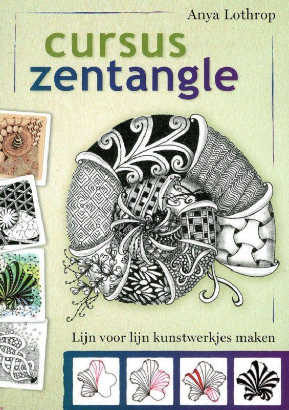 Cursus zentangle.  Door Anya Lothrop, uitgeverij Akasha.   Zengtangles zijn tekeningen die uit lijnpatronen zijn opgebouwd. Door lijn voor lijn de herhalende patronen van zentangles te tekenen, ervaar je hoe fantastisch ontspannend deze methode is. De combinatie van de ontspannende creativiteit met de prachtige patronen doet simpelweg goed.