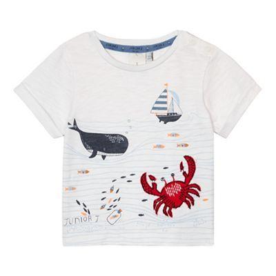 J by Jasper Conran Baby boys' white whale print t-shirt | Debenhams