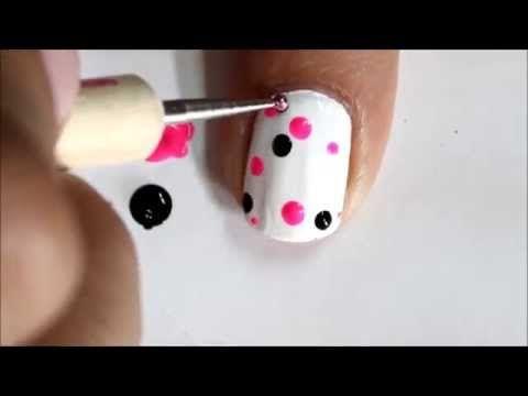 Très facile Nail Art pour les débutants! - Polka Dots conceptions débutants à ongles mignons à faire à la maison   SuperWowstyle Vidéo   Beautylish