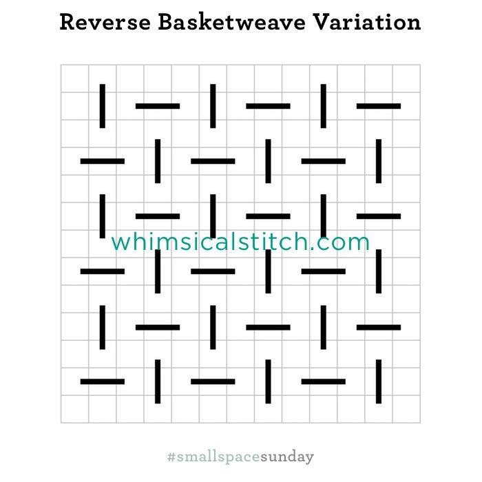 Reverse Basketweave Variation from February 18, 2018 whimsicalstitch.com/whimsicalwednesdays blog post.